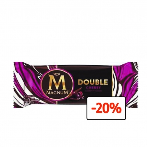 Algida-Magnum Double Cherry 88ml / 20szt